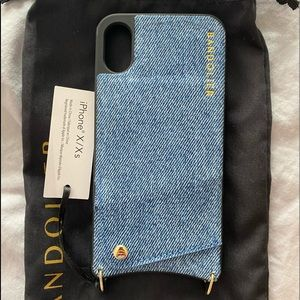 NWT Bandolier Denim Wallet Case